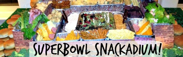 How to Make A Sensational Superbowl Snackadium!