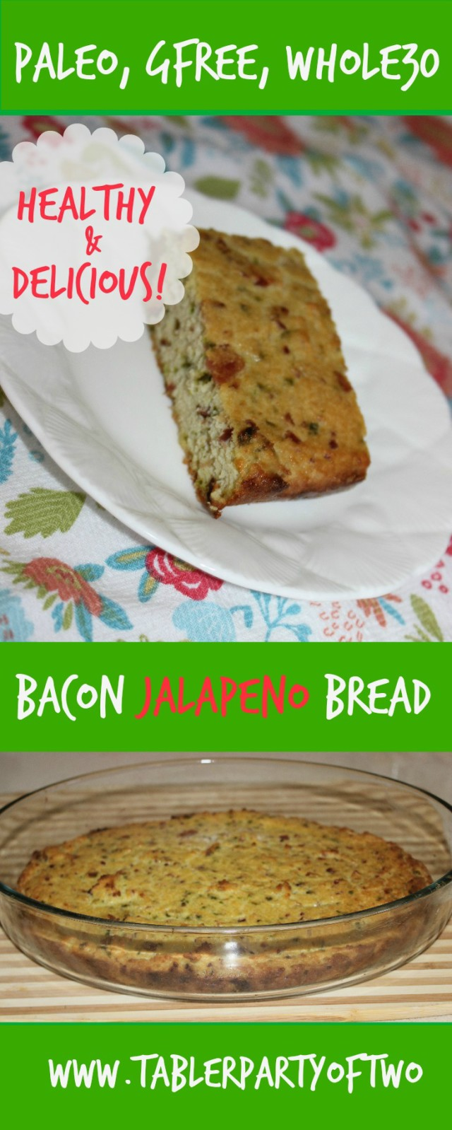 Super yummy PALEO Bacon Jalapeno Bread!