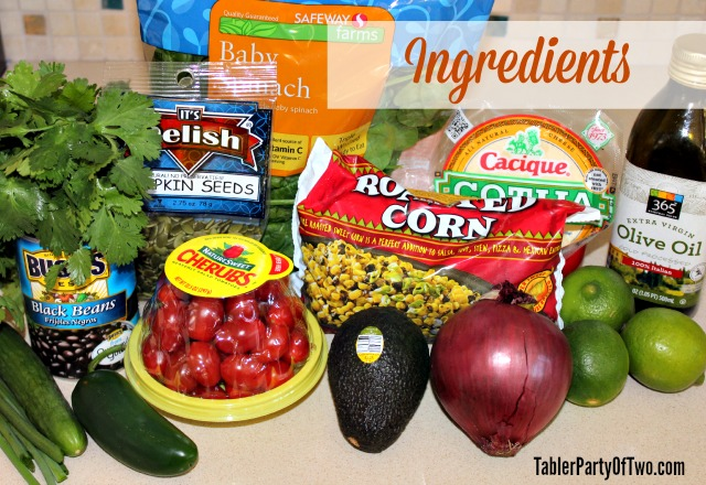 Southwestern Chopped Salad Ingredients