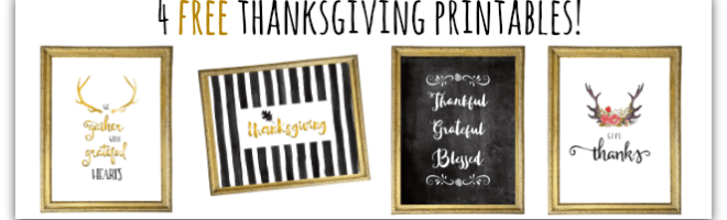 Add Some Fall Decor with these Free Thanksgiving Printables!