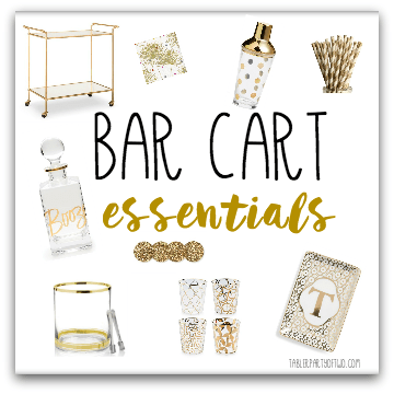 Bar Cart Essentials! Everything you need to create the perfect home bar.