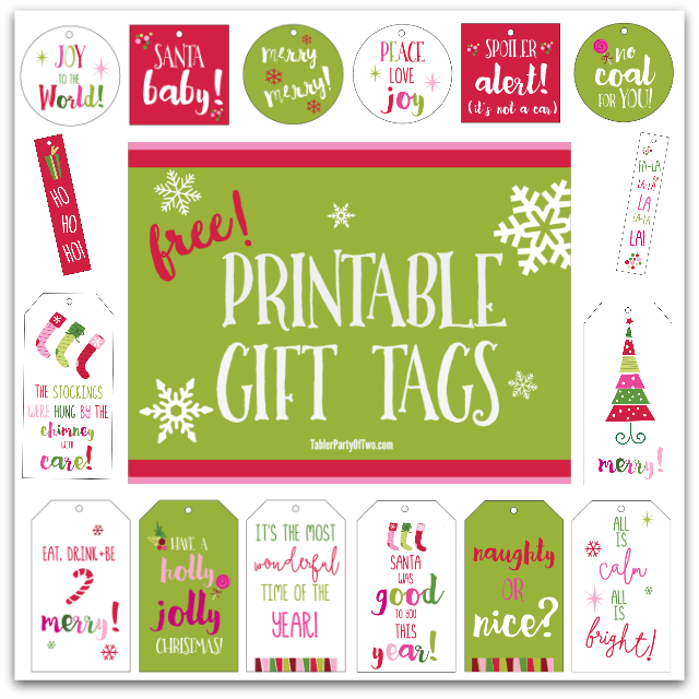 Christmas printables free gift tags artwork tabler party of two super cute and free printable gift tags negle Images