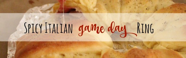 Spicy Italian Game Day Crescent Ring