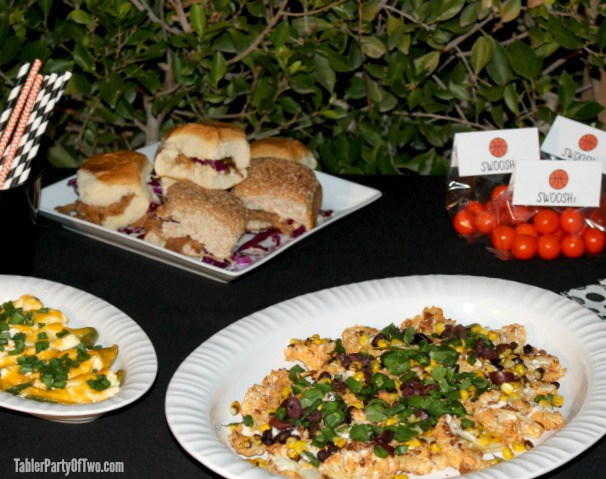 Basketball Party Spread -TablerPartyOfTwo.com