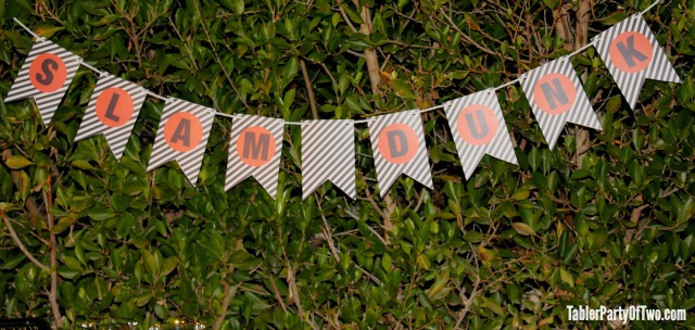 Free Slam Dunk Printable Bunting | Tabler Party Of Two | TablerPartyOfTwo.com