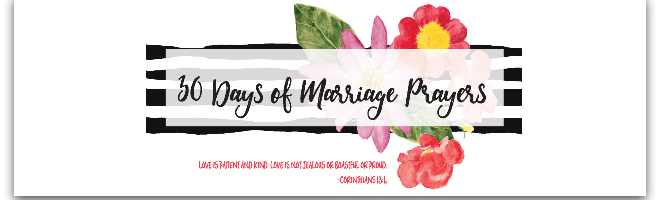 30 Days of Marriage Prayers Challenge