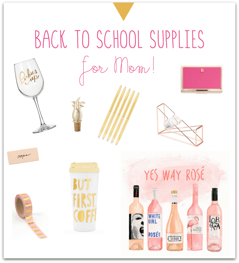 Back to School Supplies for Moms. What every mom needs! TablerPartyOfTwo.com