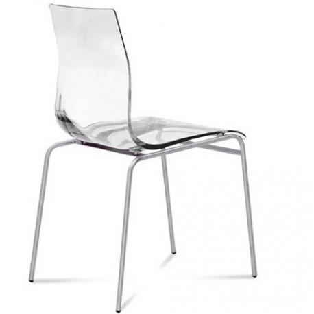 chaise de cuisine design gel par domitalia et chaises transparentes