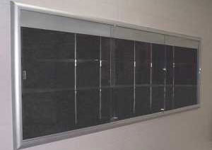 Radius Recessed Display Case