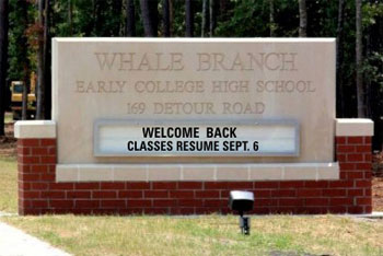 Whale Branch Sign