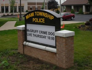 Miami Township Police Outdoor Sign