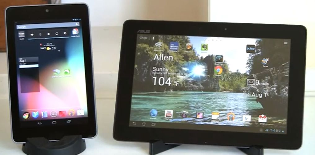google nexus 7 vs asus transformer pad infinity tf700t. Black Bedroom Furniture Sets. Home Design Ideas