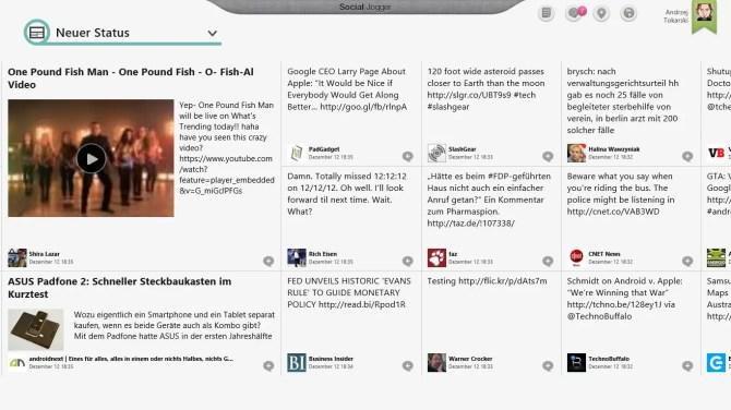 Social Jogger App für Windows 8