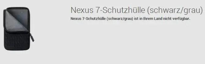 Nexus 7 Schutzhülle