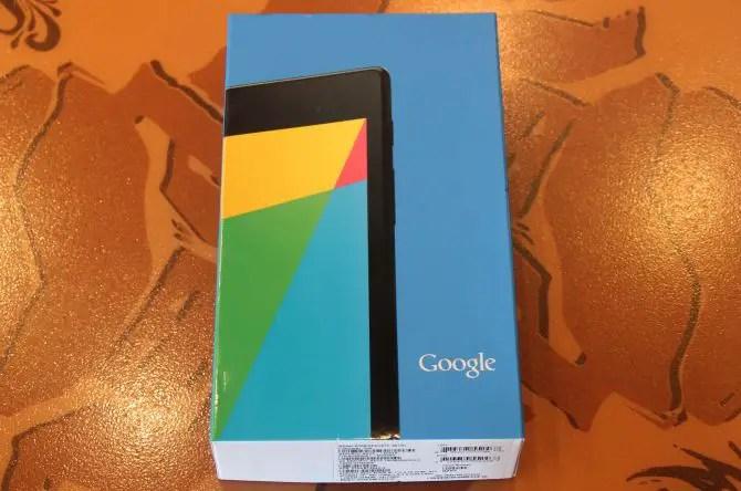 Nexus 7 2013 Verpackung