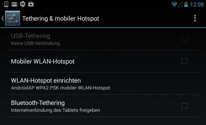 Nexus 7 LTE Hotspot Tethering