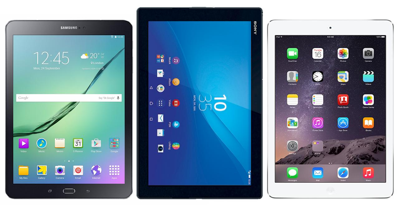 vergleich galaxy tab s2 9 7 vs ipad air 2 xperia z4 tablet