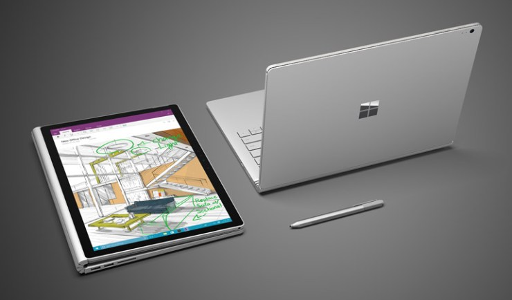 Microsoft Surface Book mit Stylus