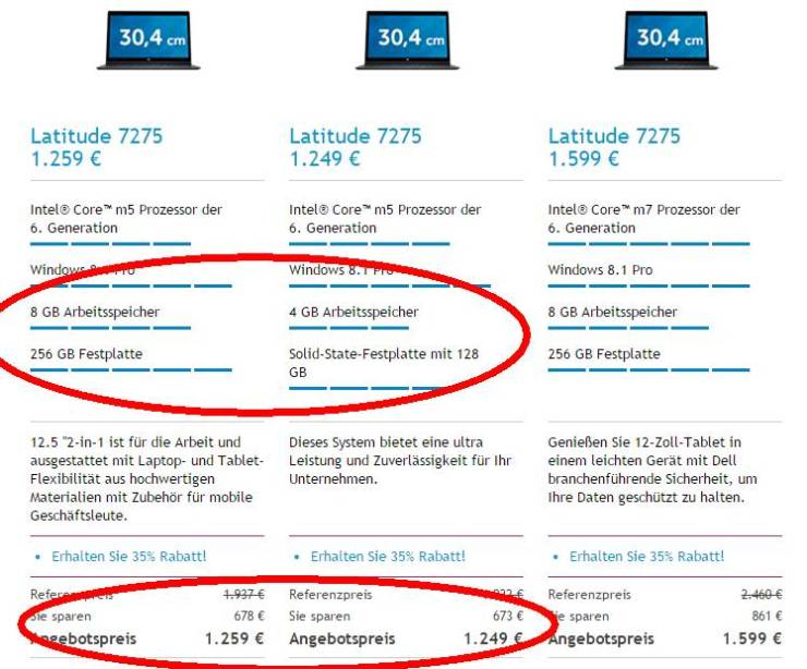 Dell Latitude 12 7275 Preise