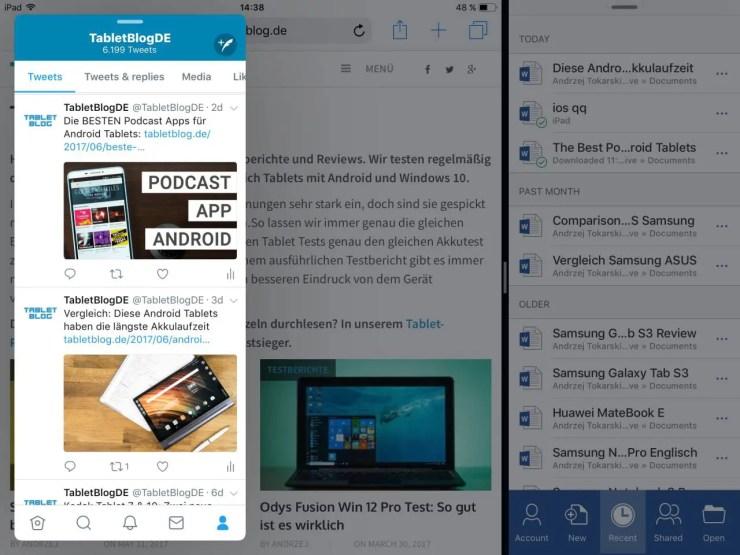 iOS 11 Multitasking