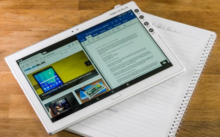 Lenovo Tab 4 10 Plus Multitasking