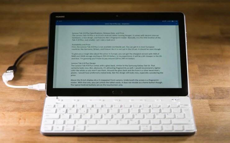 Huawei MediaPad M3 Lite 10 mit Tastatur
