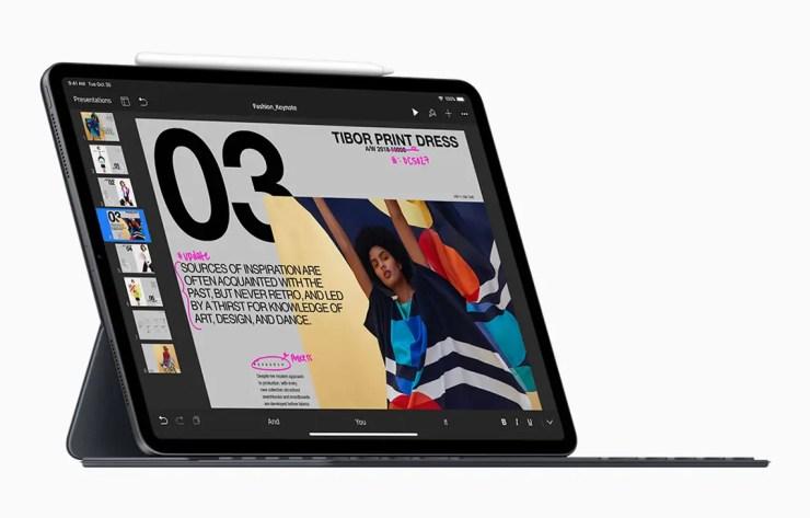 Neues iPad Pro mit Tastatur