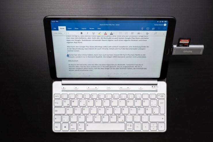 Xiaomi Mi Pad 4 Plus mit Tastatur