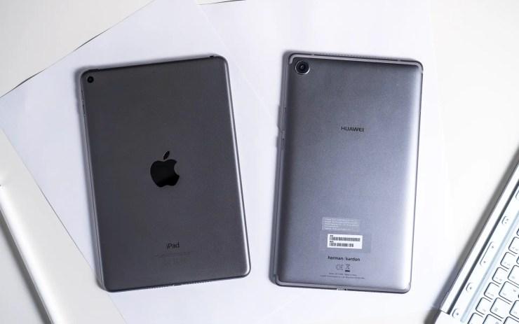 iPad Mini vs MediaPad M5 8 Design