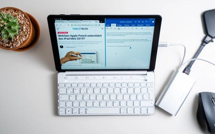 Samsung Galaxy Tab A 10 2019 mit Tastatur und Maus