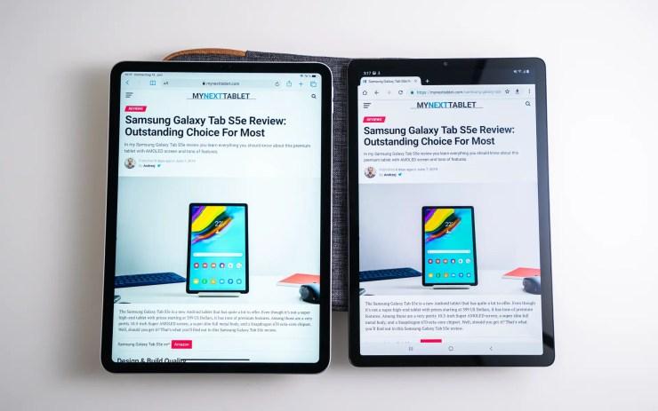 Samsung Galaxy Tab S5e vs. iPad Pro Chrome