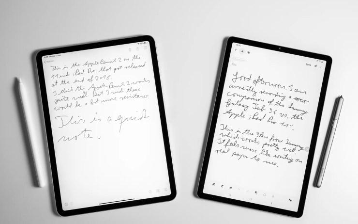 Samsung Galaxy Tab S6 vs iPad Pro Stifte