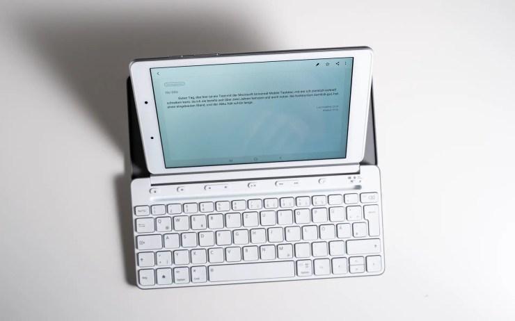 Galaxy Tab A 8.0 mit Microsoft Universal Mobile Tastatur