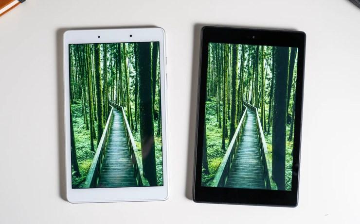 Samsung Galaxy Tab A 8 vs Amazon Fire HD 8 Display