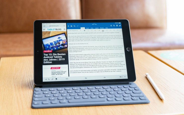 Apple iPad 7 mit Tastatur