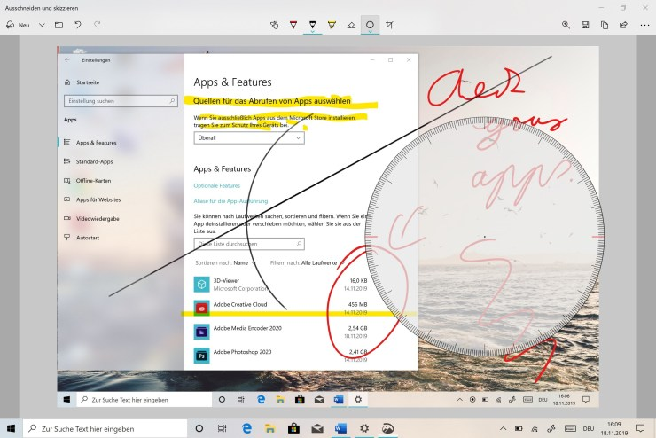 Windows Ausschneiden