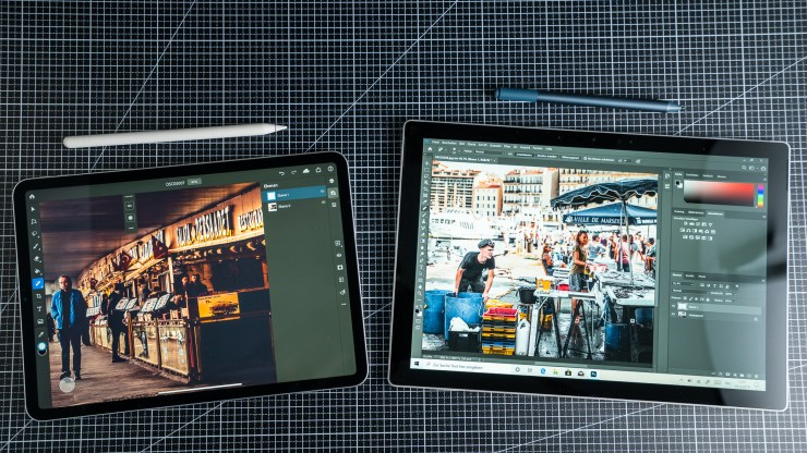 Surface Pro 7 vs. iPad Pro Photoshop Vergleich