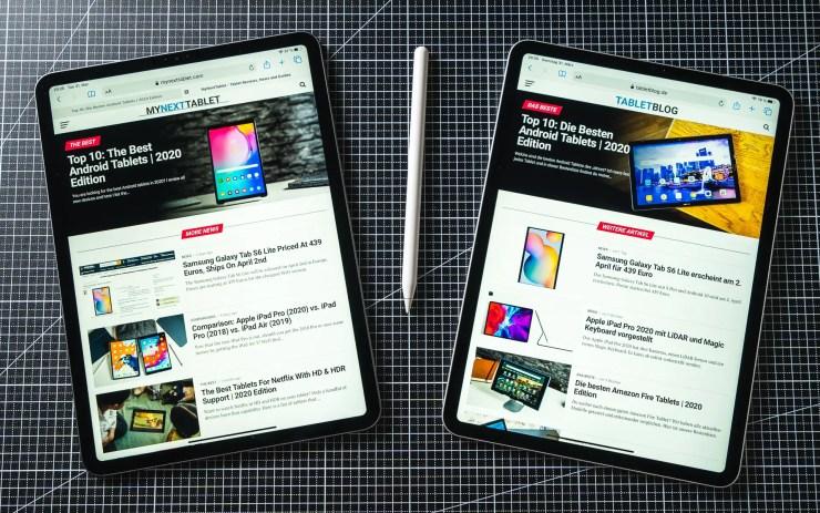 iPad Pro 2020 vs 2018 Browser