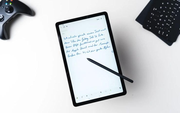 Samsung Galaxy Tab S6 Lite handschriftliche Notizen