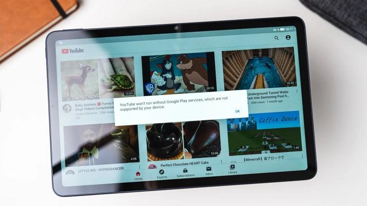 Huawei MatePad 10.4 mit YouTube App