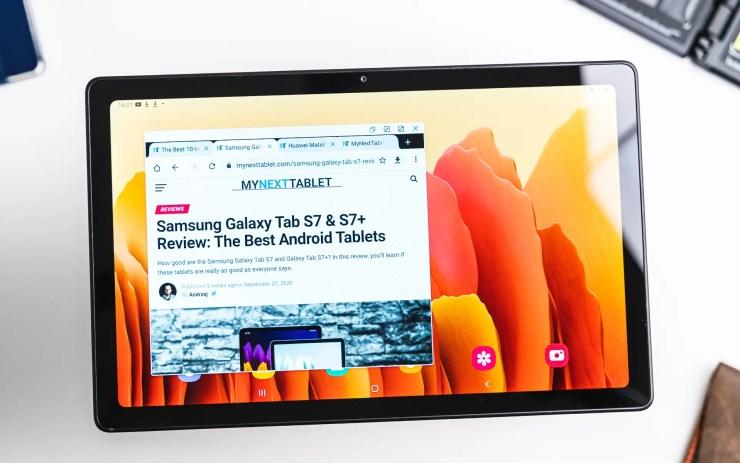 Samsung Galaxy Tab A7 Popup view