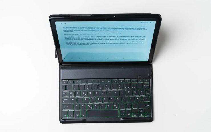 Jelly Comb Tastatur Hülle fürs Samsung Galaxy Tab A7