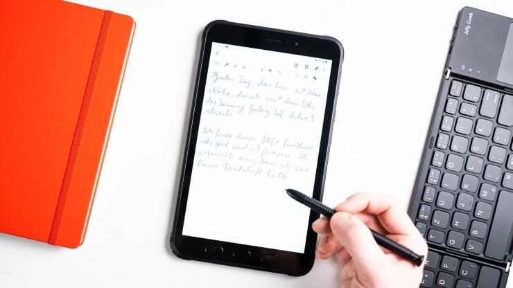 Samsung Galaxy Tab Active 3 Handschrift