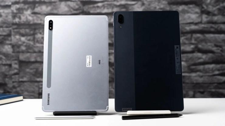 Lenovo Tab P11 Pro vs Samsung Galaxy Tab S7 Design