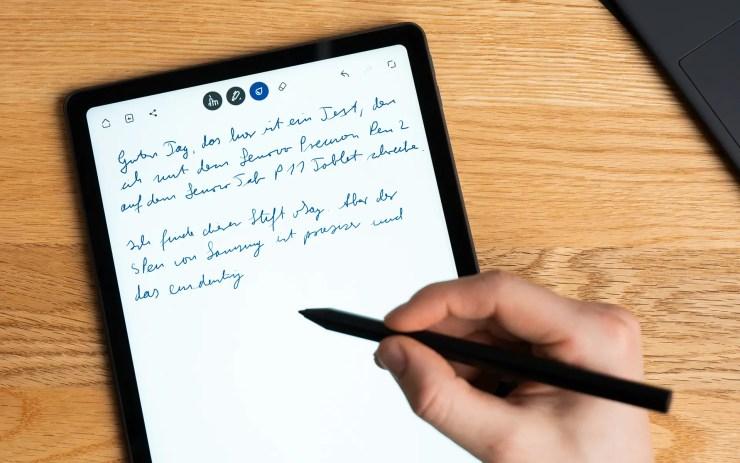 Lenovo Tab P11 Notizen aufschreiben