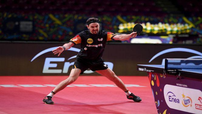 table tennis backhand loop