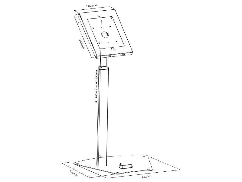 PureMounts, PDS-5620, Tablet Standfuß für Apple iPad