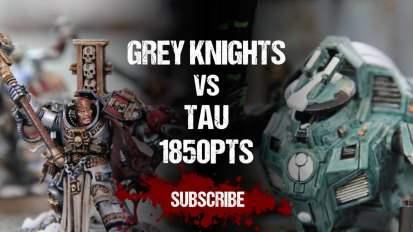 Warhammer 40,000 Battle Report: Grey Knights vs Tau 1850pts