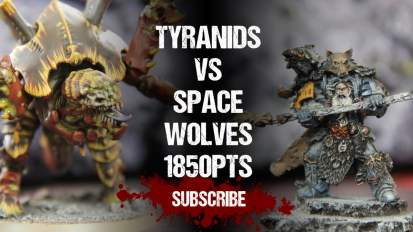 Warhammer 40,000 Battle Report: Tyranids vs Space Wolves 1850pts