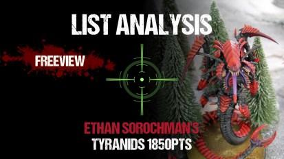 Warhammer 40,000 List Analysis: Ethan Sorochman's Tyranids 1850pts